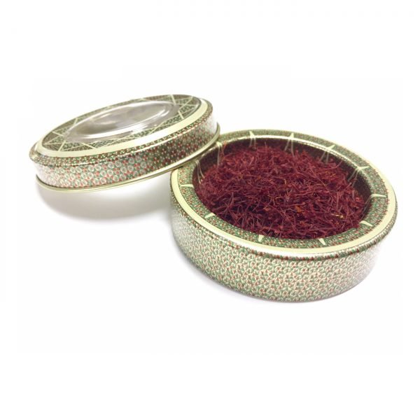 Sargol Saffron in Round Metal Tin
