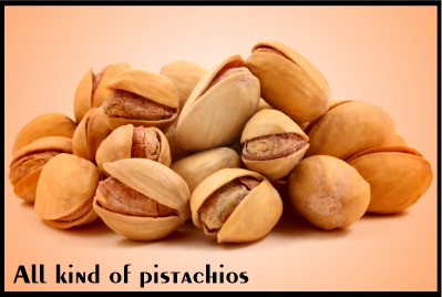 all kinds of pistachios
